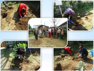 eco travelers participate in tree plantation, Ecotourism and eco traveler