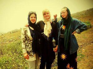 مهمانان دانمارکی از اقامتگاه حوضک اصفهان