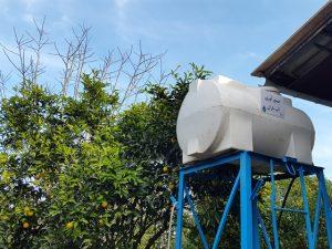 500-liter rainwater reservoir
